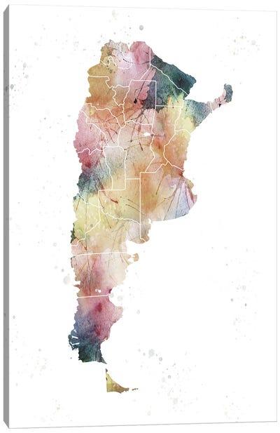 Argentina Nature Watercolor Canvas Art Print