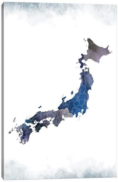 Japan Bluish Map Canvas Art Print