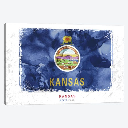 Kansas 3-Piece Canvas #WDA182} by WallDecorAddict Canvas Artwork