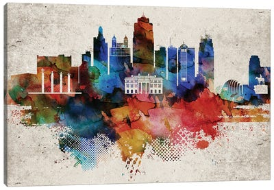 Kansas City Abstract Canvas Art Print
