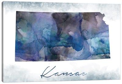 Kansas State Bluish Canvas Art Print