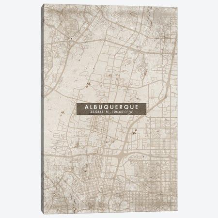 Albuquerque, New Mexico, City Map Abstract Style Canvas Print #WDA1904} by WallDecorAddict Canvas Artwork
