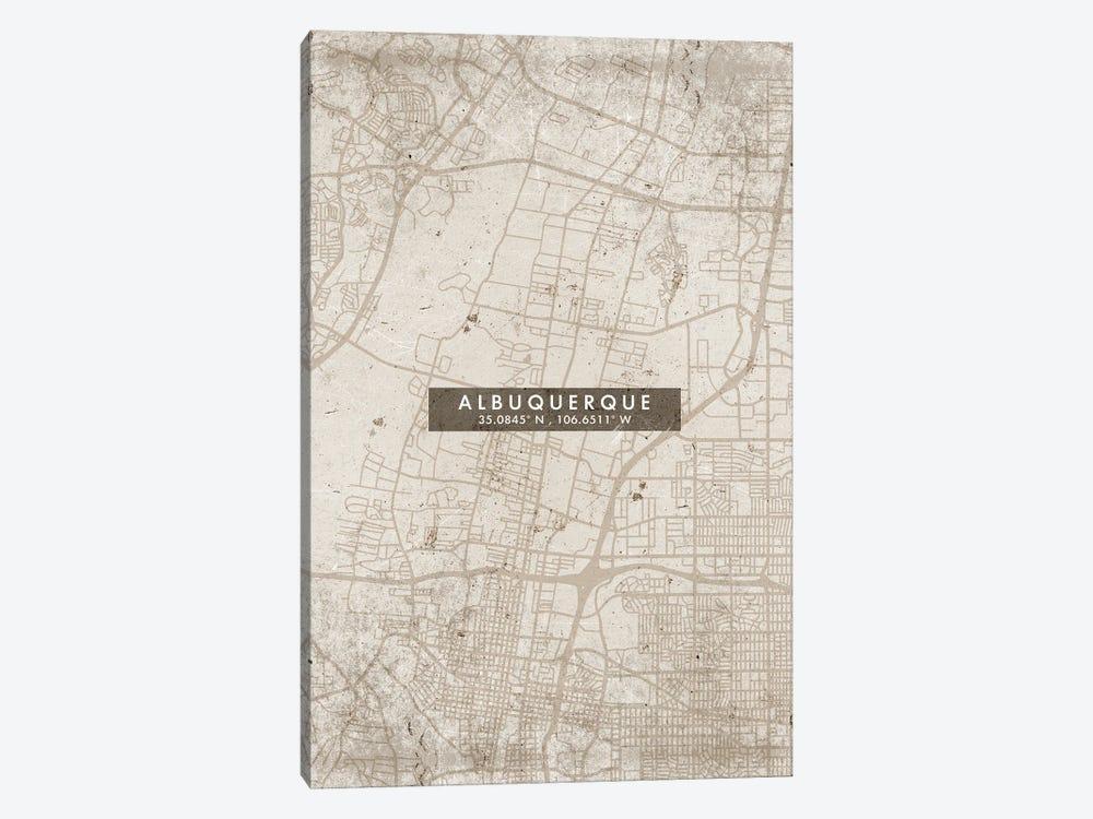 Albuquerque, New Mexico, City Map Abstract Style by WallDecorAddict 1-piece Canvas Artwork