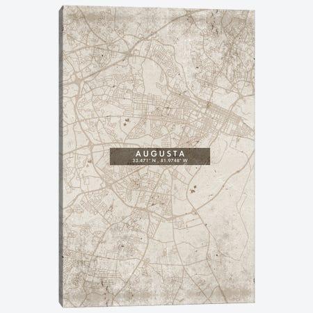 Augusta City Map Abstract Style Canvas Print #WDA1908} by WallDecorAddict Canvas Art Print