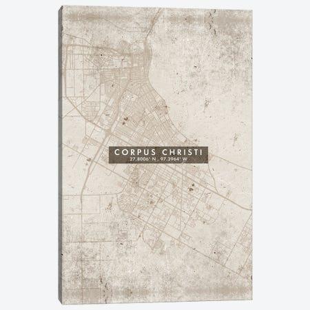 Corpus Christi City Map Abstract Style Canvas Print #WDA1934} by WallDecorAddict Canvas Print