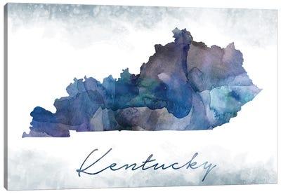 Kentucky State Bluish Canvas Art Print