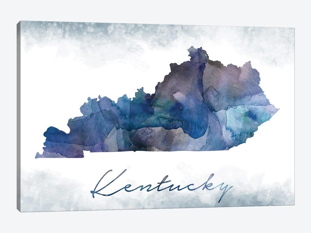 Kentucky State Bluish by WallDecorAddict 1-piece Canvas Art
