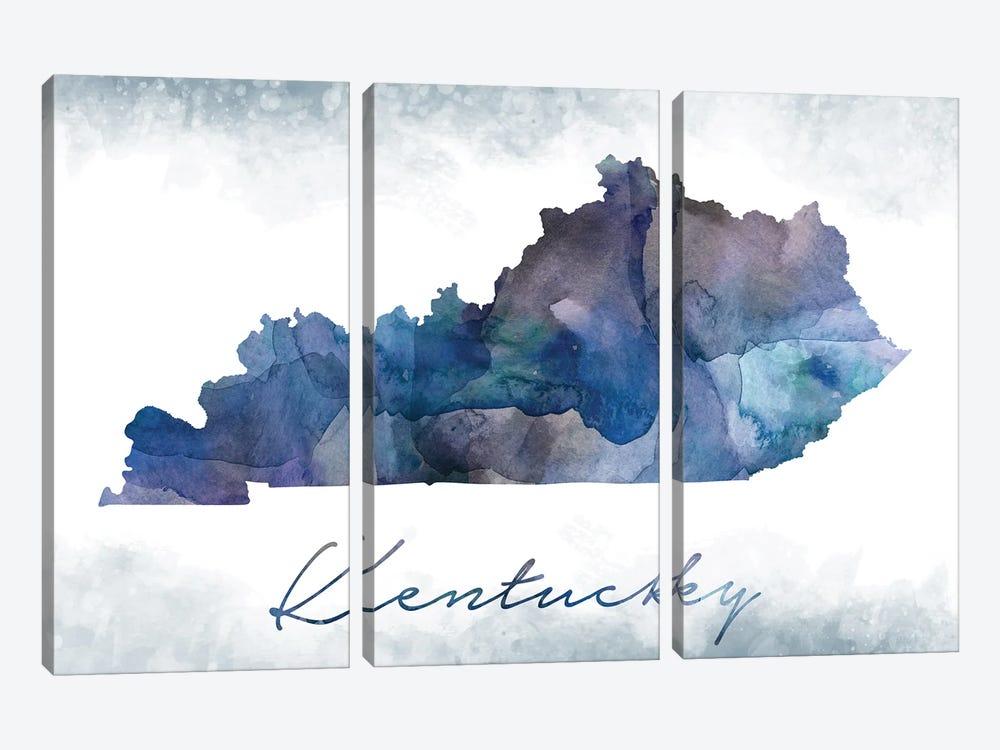 Kentucky State Bluish by WallDecorAddict 3-piece Canvas Art