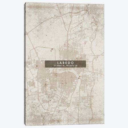 Laredo City Map Abstract Style Canvas Print #WDA1954} by WallDecorAddict Canvas Art Print