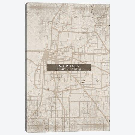 Memphis City Map Abstract Style Canvas Print #WDA1963} by WallDecorAddict Art Print