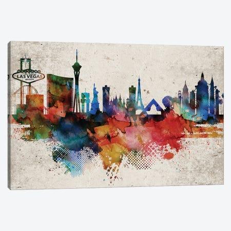 Las Vegas Abstract Canvas Print #WDA196} by WallDecorAddict Canvas Art