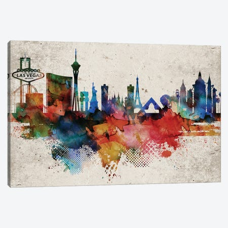Las Vegas Abstract Canvas Print #WDA196} by WallDecorAddict Canvas Art