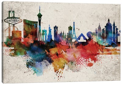 Las Vegas Abstract Canvas Art Print