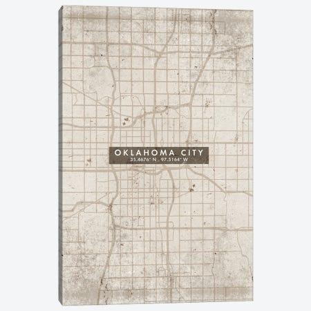 Oklahoma City Map Abstract Style Canvas Print #WDA1973} by WallDecorAddict Canvas Art