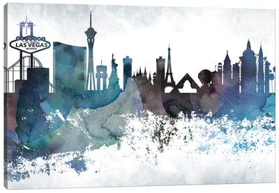 Las Vegas Bluish Skylines Canvas Art Print