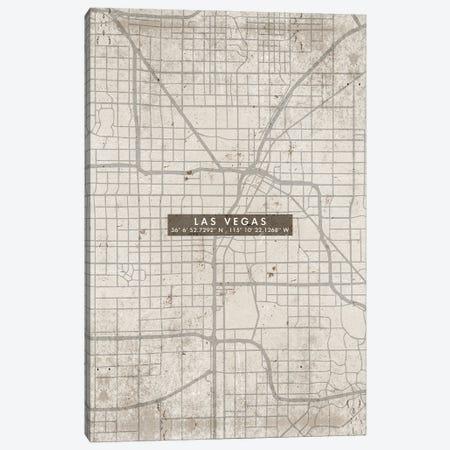 Las Vegas City Map Abstract Canvas Print #WDA199} by WallDecorAddict Art Print