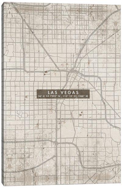 Las Vegas City Map Abstract Canvas Art Print