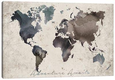 Adventure Awaits Map Canvas Art Print