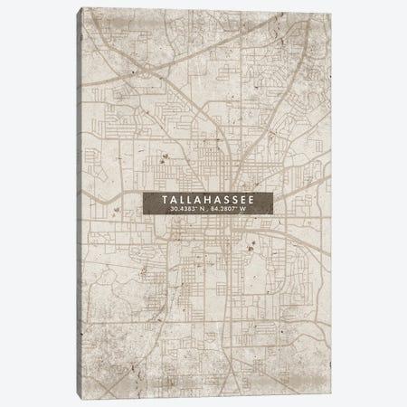 Tallahassee, Florida City Map Abstract Style Canvas Print #WDA2004} by WallDecorAddict Canvas Art Print