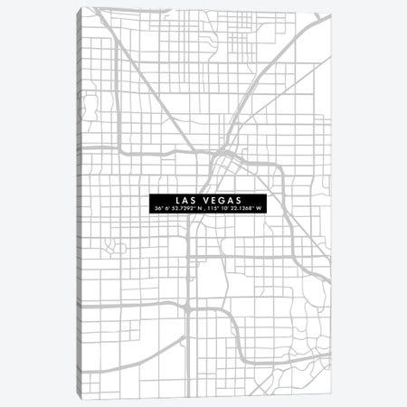 Las Vegas City Map Minimal Canvas Print #WDA201} by WallDecorAddict Art Print