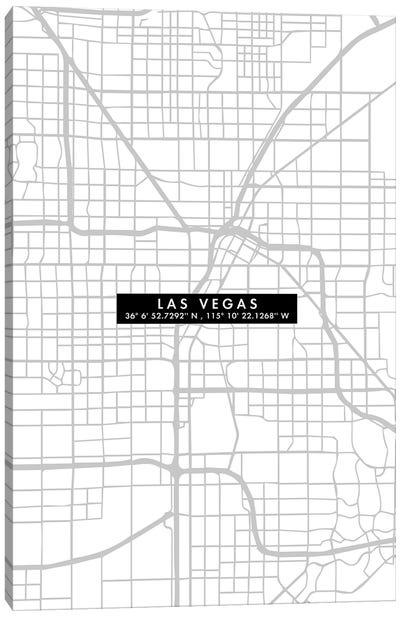 Las Vegas City Map Minimal Canvas Art Print