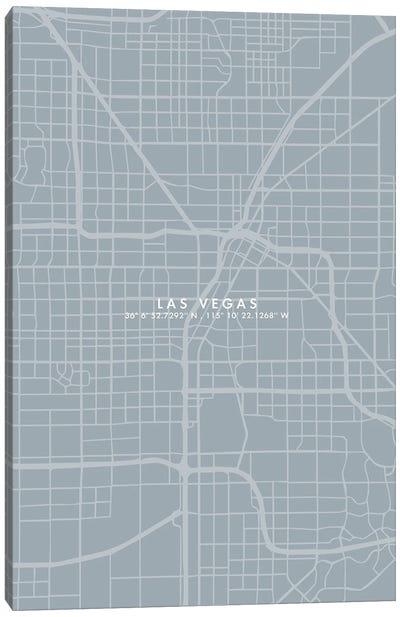 Las Vegas City Map Simplecolor Canvas Art Print