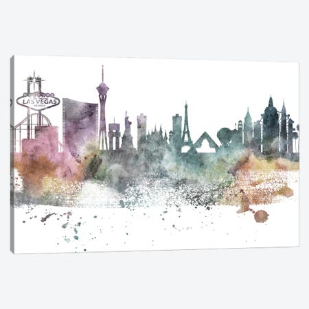 Las Vegas Pastel Skylines Canvas Print #WDA203} by WallDecorAddict Canvas Art Print