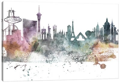Las Vegas Pastel Skylines Canvas Art Print