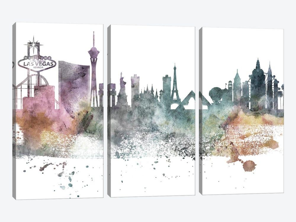 Las Vegas Pastel Skylines by WallDecorAddict 3-piece Art Print