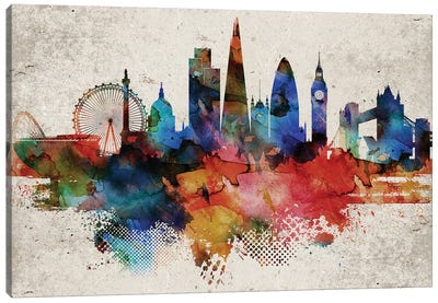 London Abstract Canvas Art Print