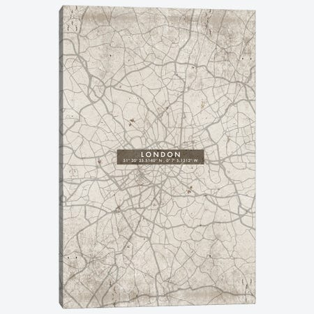 London City Map Abstract Canvas Print #WDA207} by WallDecorAddict Canvas Art