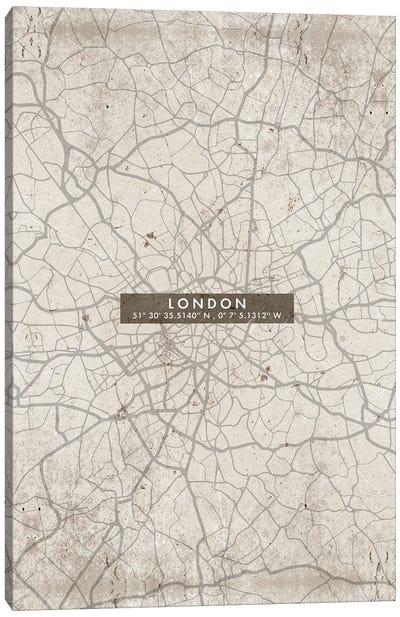 London City Map Abstract Canvas Art Print