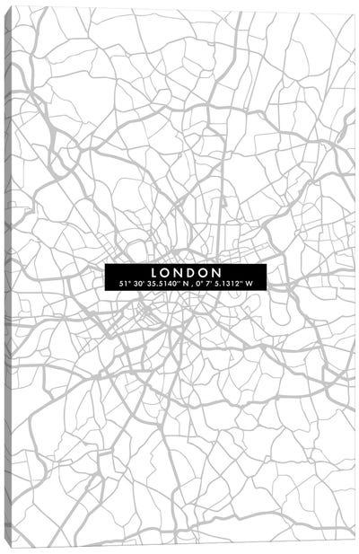 London City Map Minimal Canvas Art Print