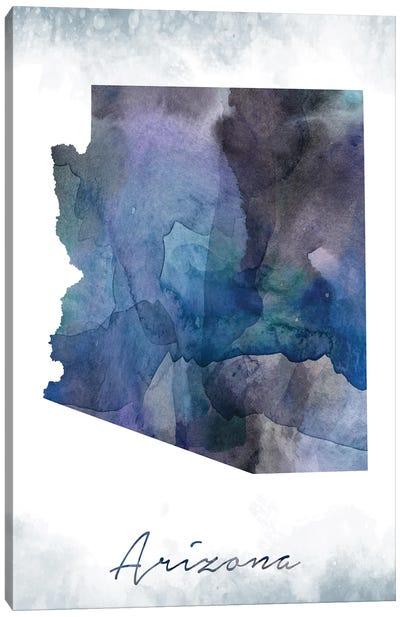 Arizona State Bluish Canvas Art Print