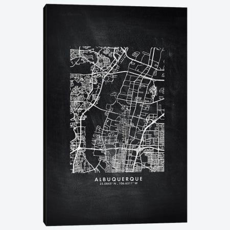 Albuquerque City Map Chalkboard Style Canvas Print #WDA2115} by WallDecorAddict Art Print