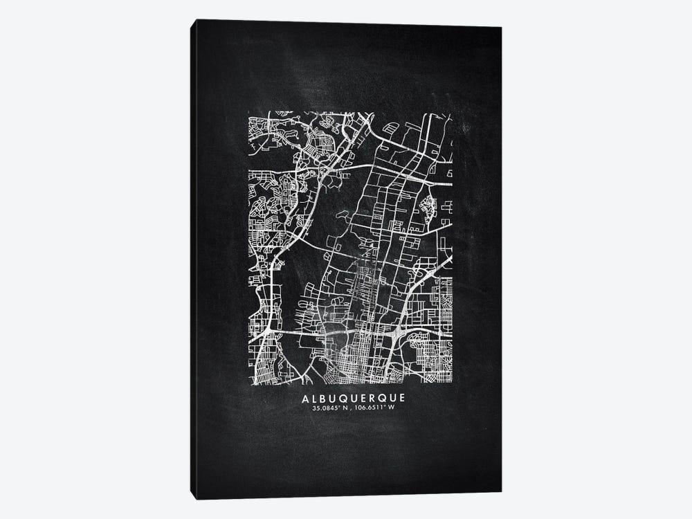 Albuquerque City Map Chalkboard Style by WallDecorAddict 1-piece Art Print