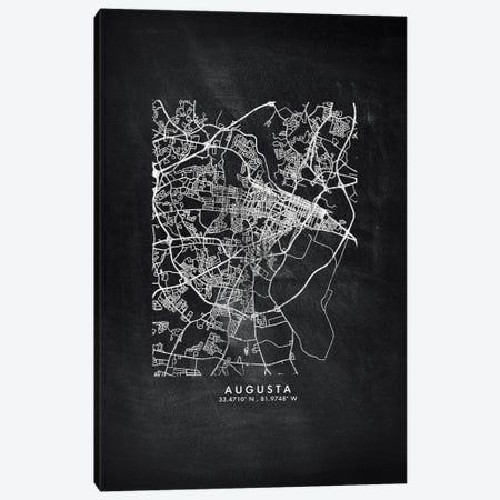 Augusta City Map Chalkboard Style Canvas Print #WDA2119} by WallDecorAddict Canvas Art