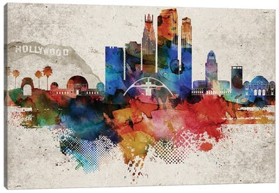 Los Angeles Abstract Canvas Art Print