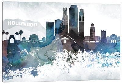 Los Angeles Bluish Skylines Canvas Art Print