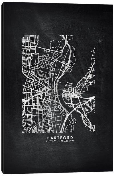 Hartford City Map Chalkboard Style Canvas Art Print