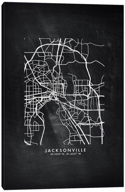 Jacksonville City Map Chalkboard Style Canvas Art Print
