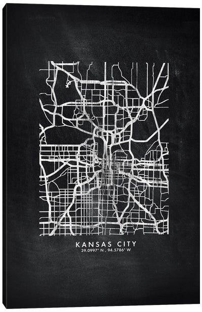 Kansas City Map Chalkboard Style Canvas Art Print