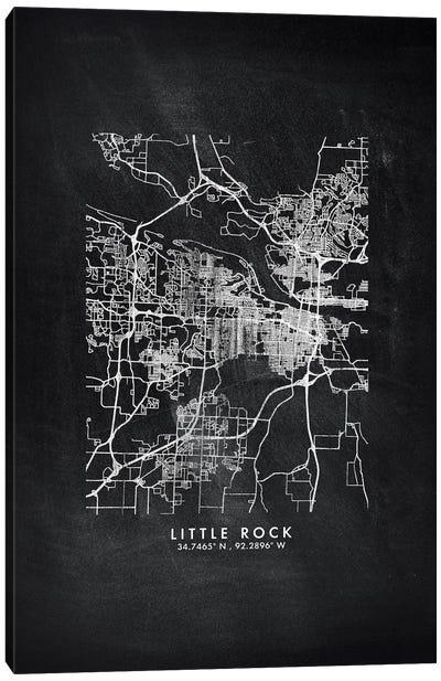 Little Rock City Map Chalkboard Style Canvas Art Print