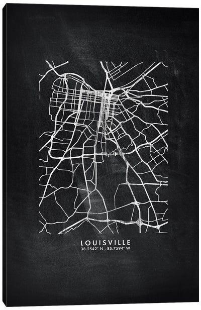 Louisville City Map Chalkboard Style Canvas Art Print