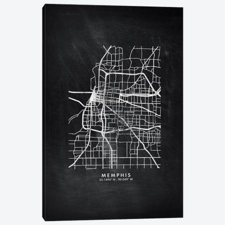 Memphis City Map Chalkboard Style Canvas Print #WDA2174} by WallDecorAddict Art Print