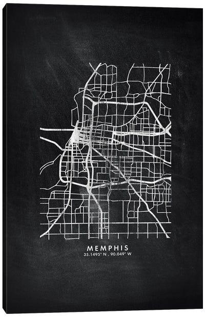 Memphis City Map Chalkboard Style Canvas Art Print
