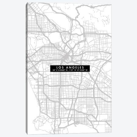 Los Angeles City Map Minimal Canvas Print #WDA217} by WallDecorAddict Canvas Art Print