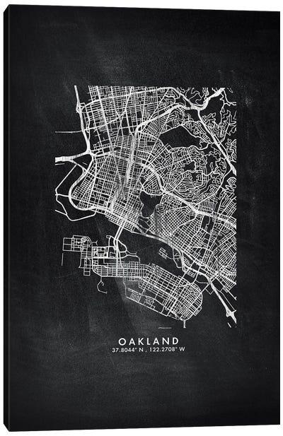 Oakland City Map Chalkboard Style Canvas Art Print