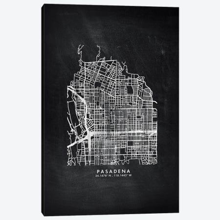 Pasadena City Map Chalkboard Style Canvas Print #WDA2188} by WallDecorAddict Art Print