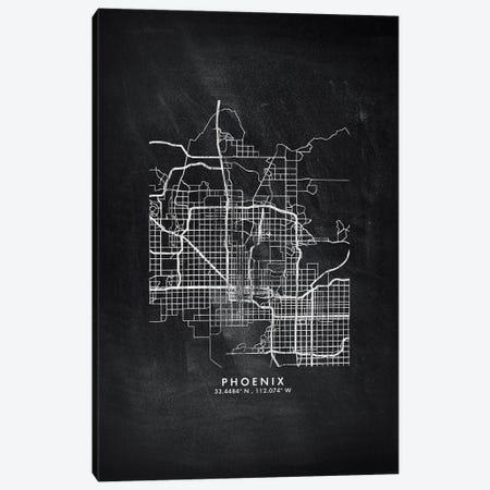 Phoenix City Map Chalkboard Style Canvas Print #WDA2189} by WallDecorAddict Art Print